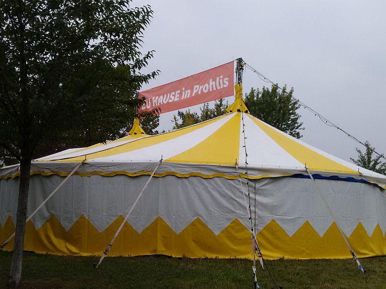 (c) EMODD zuhause in Prohlis - Zelt