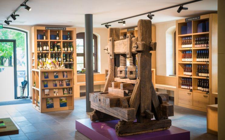 Historische Weinpresse_Foto Hoflösnitz